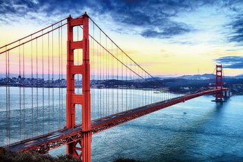 Glass Art San Francisco - Sunny Golden Gate