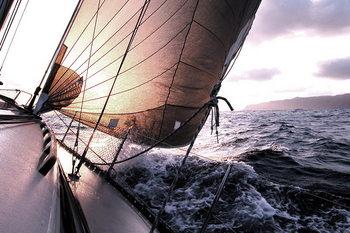 Glass Art Sea - Boat on the Sea
