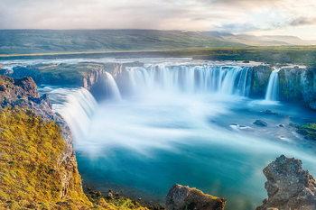 Glass Art Sea - Calm Waterfall