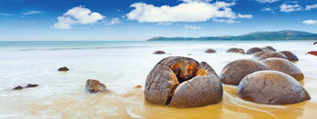 Glass Art Stones on the Beach