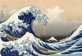 Glass Art  The Great Wave Off Kanagawa, Hokusai