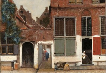 Glass Art The Little Street, Vermeer