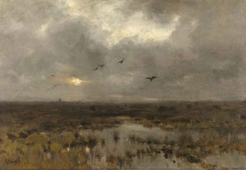 Glass Art  The Marsh, Anton Mauve