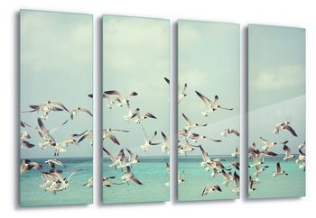 Glass Art Vintage Seagulls