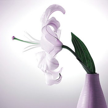 Glass Art White Blossom - Flower