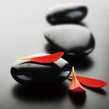 Glass Art  Zen - Red