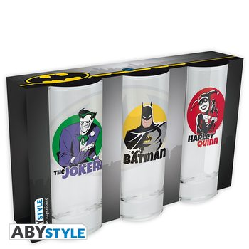 Glass DC Comics - Batman, Joker, Harley