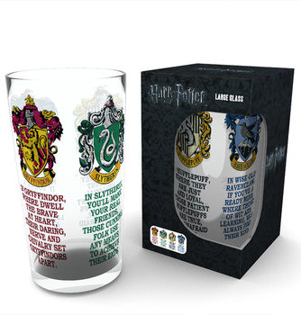Harry Potter - House Crests Glass
