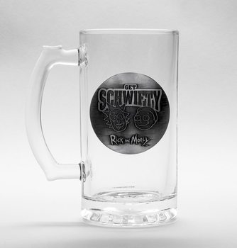 Rick And Morty - Get Schwifty Glass