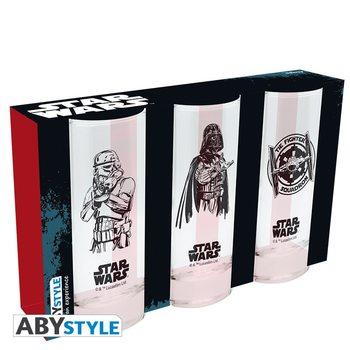Star Wars - Darth Vader, Stormtrooper, Tie Fighter Glass