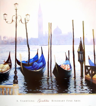 Gondolas Reproduction d'art