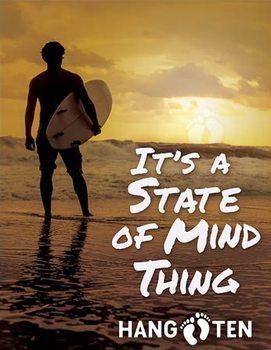 Hang Ten - State of Mind Plaque métal décorée