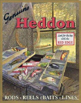 HEDDONS - Tackle Box Plaque métal décorée