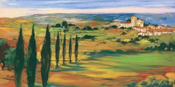 Hills Of Tuscany Reproduction d'art