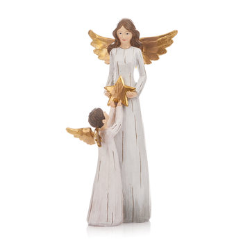 Angel Gold with Little Angle, 27 cm Home Decor