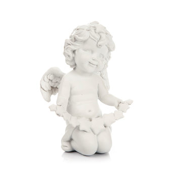 Angel Kneeling with Dangling Heart,  13 cm Home Decor