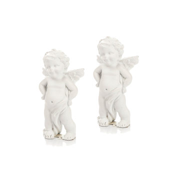 Angel with Hands on Hips, 8 cm, set of 2 pcs Home Decor