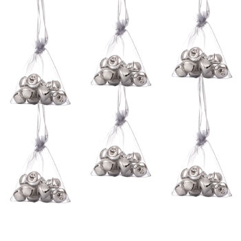 Bells in Bag, 10 pcs, 2,5 cm, set of 6 pcs Home Decor