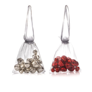 Bells in Bag, 20 pcs, Various Sizes, set of 2 pcs Home Decor