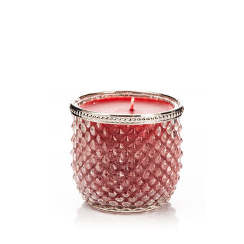 Candle in Glass-Cranberry+Cinnamon, Red Wide 9x Home Decor