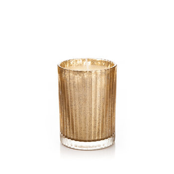 Candle in Glass Metal - Vanilla, Gold 9 cm Home Decor