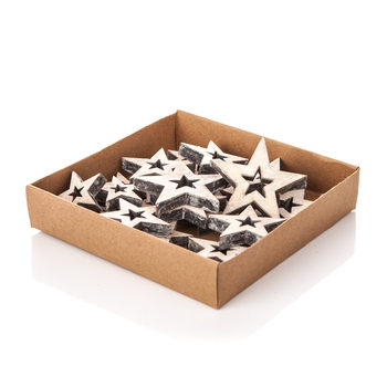 Christmas Box Wooden Decorative Stars, Various Sizes Home Decor