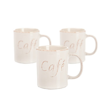 Mug Café 400 ml, set of 3 pcs Home Decor