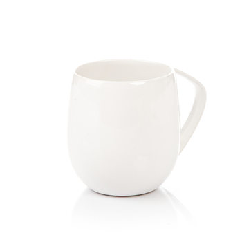 Mug Egg-Shaped White 300 ml Home Decor