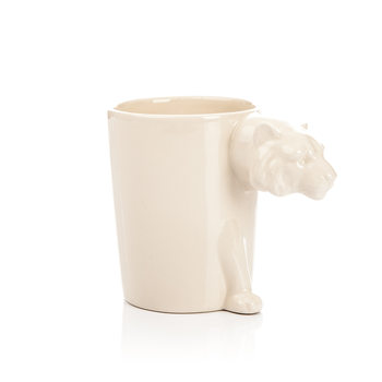 Mug with Tiger Head Handle, 300 ml Home Decor