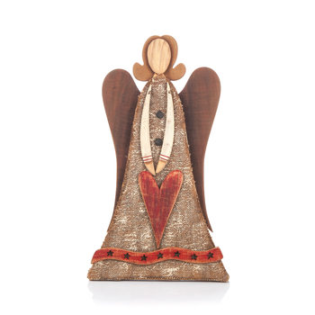 Wooden Angel Standing 38 cm Home Decor