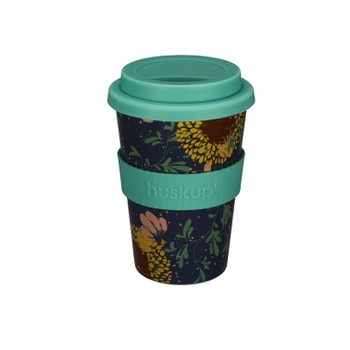Eco mug Huskup - Teal Sunflower