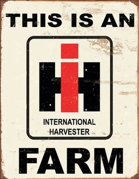 IH Farm Plaque métal décorée