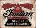 INDIAN GENUINE PARTS Plaque métal décorée