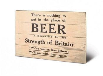IWM - beer Panneaux en Bois