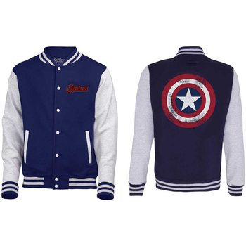 Avengers - Assemble Distressed Shield Varsity Jacket