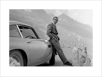 James Bond 007 - Aston Martin Reproduction d'art