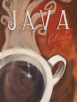 Java Columbia Reproduction d'art