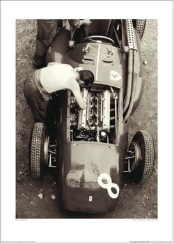Jesse Alexander - Ferrari Mechanic, French GP, 1954 Reproduction d'art