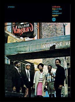 John Coltrane - village vanguard Poster encadré en verre