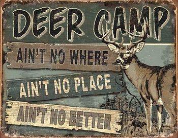 JQ - Deer Camp Plaque métal décorée