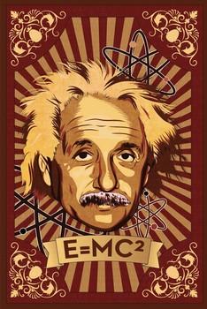 Juliste  Albert Einstein - mural