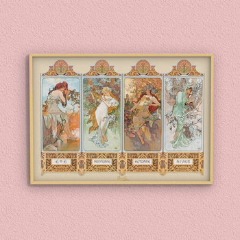 Juliste Alfons Mucha – four seasons