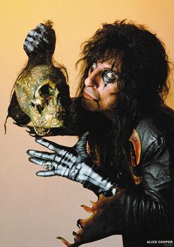 Juliste Alice Cooper - With Skull 1987