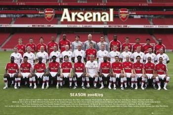 Juliste  Arsenal - Team photo 08/09