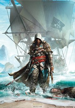 Juliste  Assassin´s Creed - Edward Debarquant