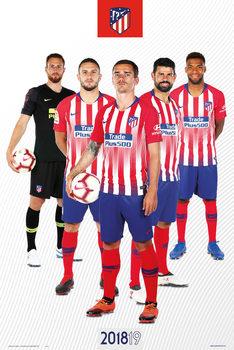Juliste  Atletico Madrid 2018/2019 - Grupo