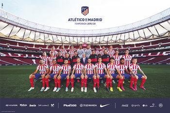 Juliste Atletico Madrid 2019/2020 - Team