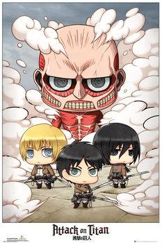 Juliste Attack on Titan (Shingeki no kyojin) - Chibi Group