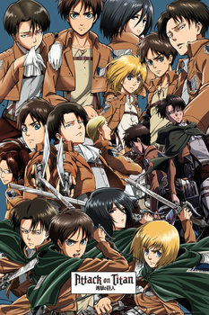 Juliste Attack on Titan (Shingeki no kyojin) - Collage