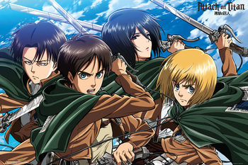 Juliste  Attack on Titan (Shingeki no kyojin) - Four Swords